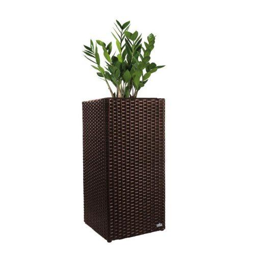 Flora Best Rattan virágtartó műanyag, barna