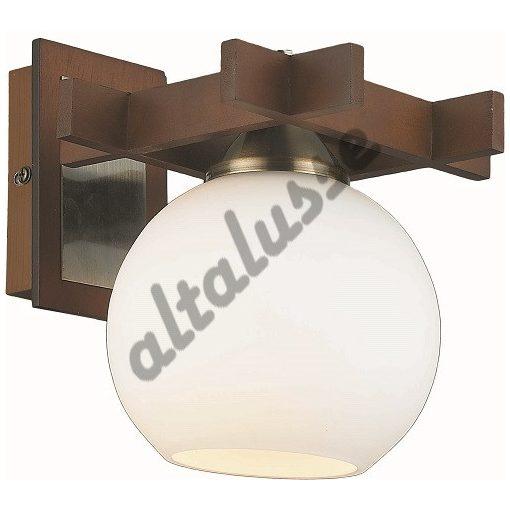 ALTALUSSE INL-3089W-01 ANTIQUE BRASS & WALNUT FALI LÁMPA Е27 1Х60W