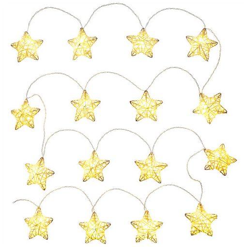 Retlux Rxl 249 Rattan Csillagok 16 Led Meleg Fehér