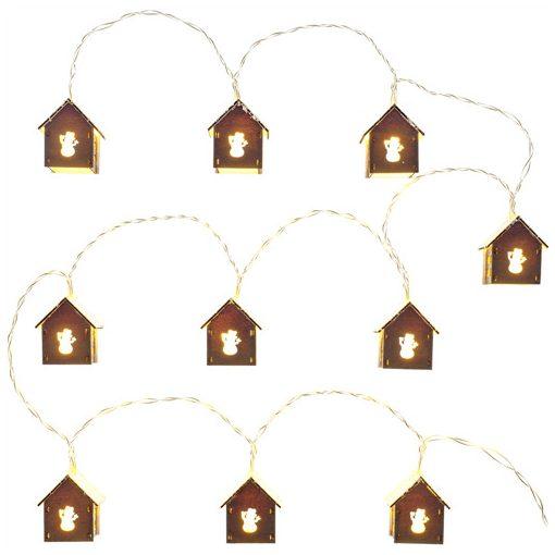 Retlux Rxl 267 Havas Fa Házikó 10 Led Meleg Fehér