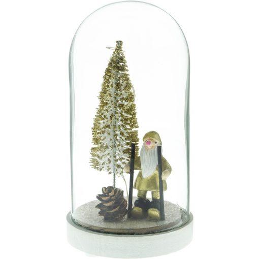 Retlux Rxl 316 Karácsonyi Üveg Kupola Fa Dekorációval Kicsi 3 Led Meleg Fehér