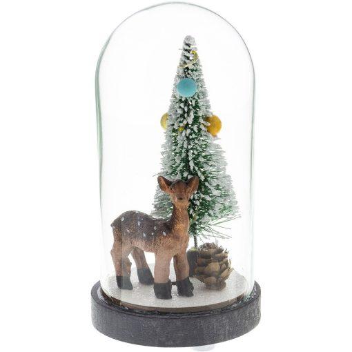 Retlux Rxl 318 Karácsonyi Üveg Kupola Fa Dekorációval 3 Led Meleg Fehér