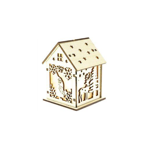Retlux Rxl 333 Mini Házikó 1 Led 3 D Effect Meleg Fehér