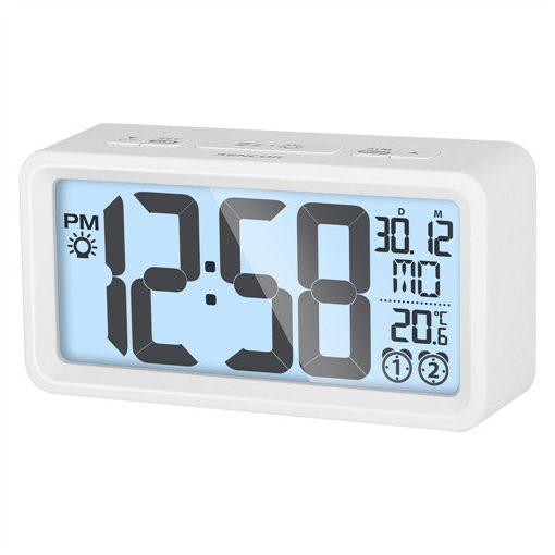Sencor Sdc2800W Ébresztőóra Hőmérővel Fehér
