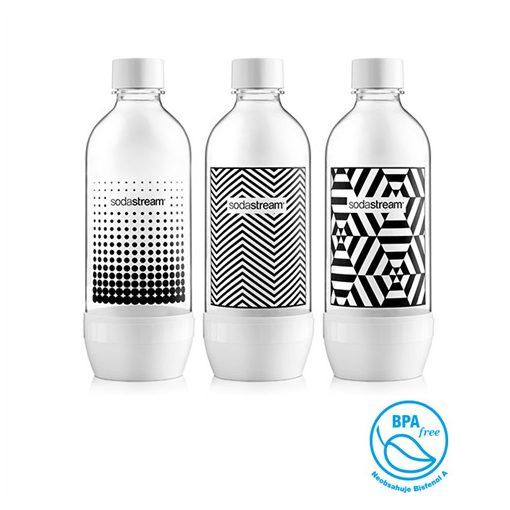 Sodastream Bottle Jet Black/White Tripack Palack 3 Db (42002132)